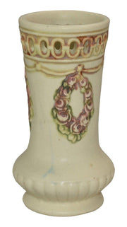 Weller Pottery Roma Reticulated Rim Vase - Just Art Pottery