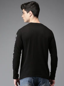 Men Black Printed T-shirt