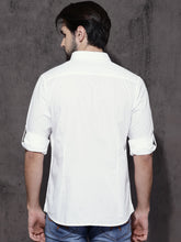 Load image into Gallery viewer, Men White Regular Fit Solid Casual Shirt