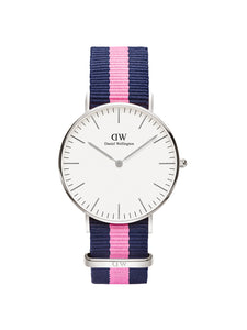 Classic Winchester Women White Analogue Watch DW00100049