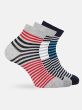 Load image into Gallery viewer, Men Set of 3 Striped Socks