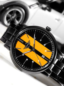 Men Black & Yellow Analogue Watch 160905_OR11