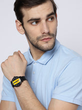 Load image into Gallery viewer, Men Black & Yellow Analogue Watch 160905_OR11
