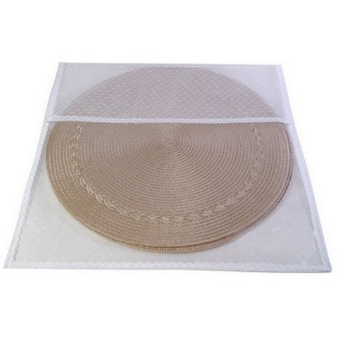 Picture of Tulle/Lace Round Placemat Storage Bag