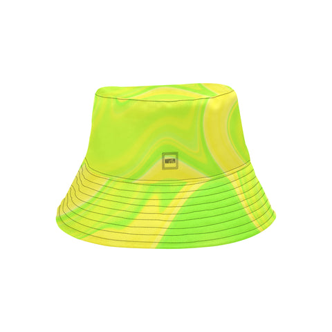 Lime Wavy Bucket Hat