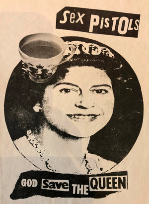God Save The Queen Tea Cup Flyer