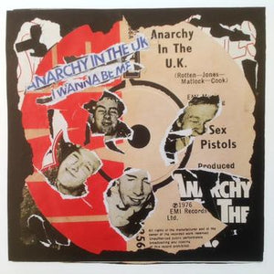 Sex Pistols - Anarchy In The UK Decollage