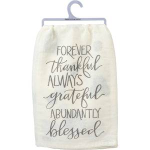 FOREVER THANKFUL DISH TOWEL