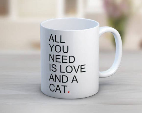 LOVE AND A CAT MUG