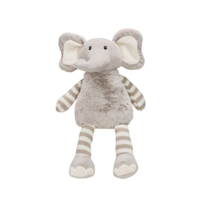 PLUSH ELEPHANT GREY + WHITE