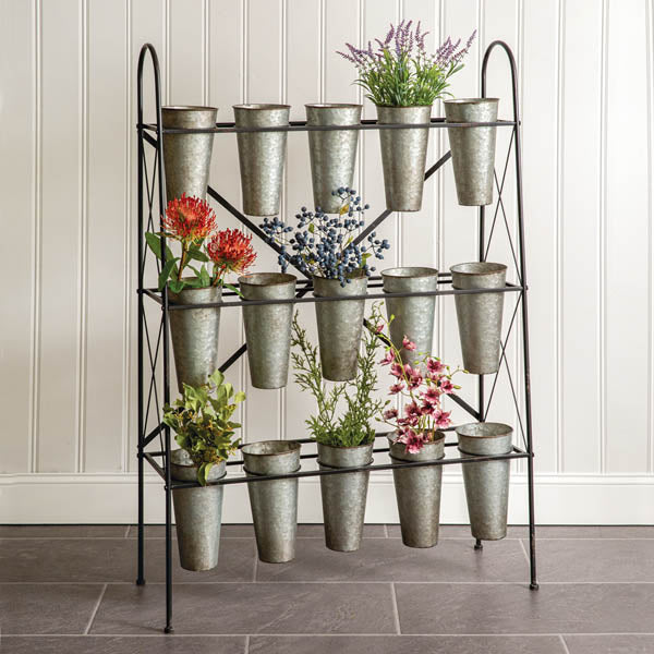 GALVANIZED ORGANIZER RACK