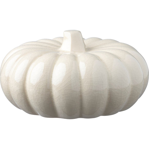 CREAM CERAMIC PUMPKIN LG
