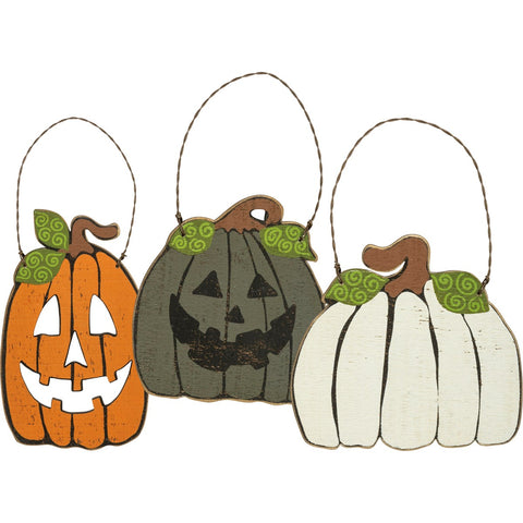 PUMPKIN ORNAMENT SET (3)