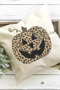 JACK-O-LEOPARD PILLOW COVER