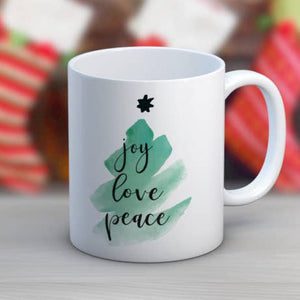 JOY LOVE PEACE MUG
