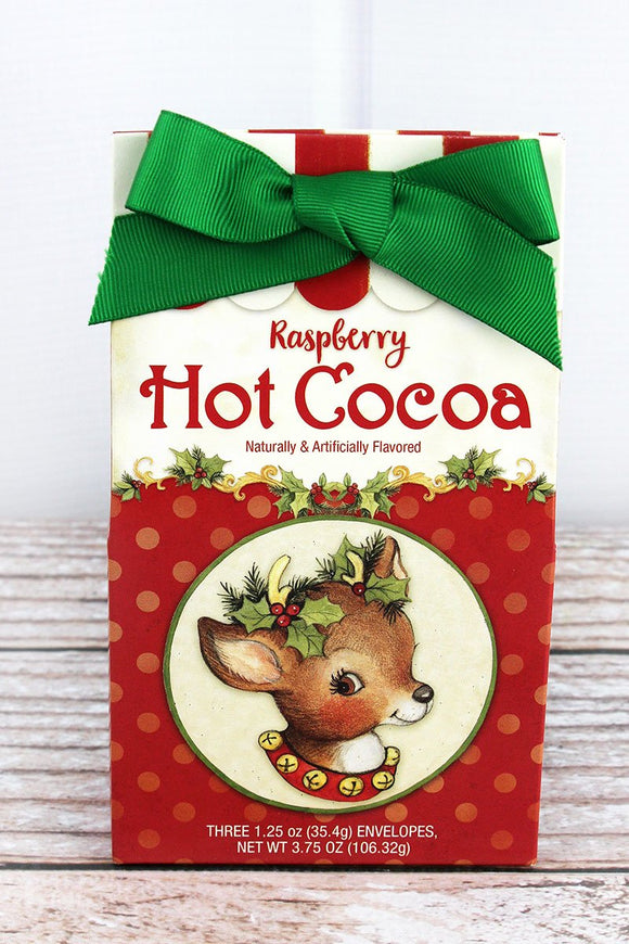HOLLY JOLLY REINDEER RASBERRY HOT COCOA MIX