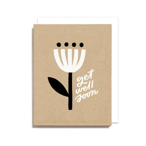 GET WELL MINIMAL FLOWER CARD
