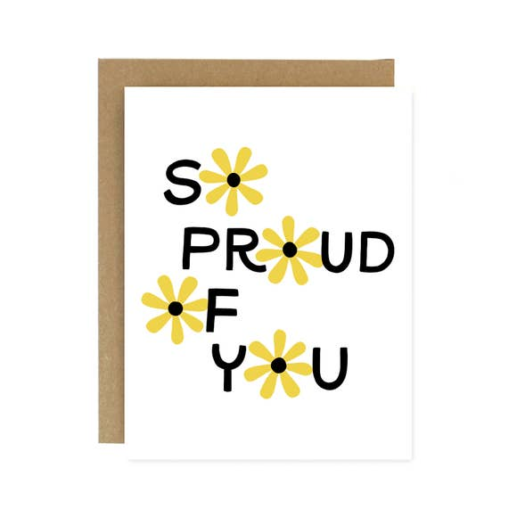 SO PROUD OF YOU FLOWER CARD