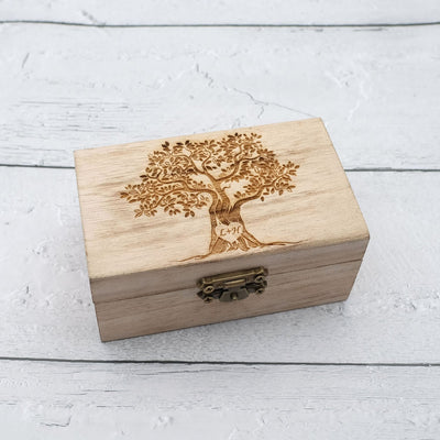 Family Tree Wedding Ring Box,Tree Of Life Jewelry Box,Personalized Ring Box For Engagement,Custom Ring Bearer Box
