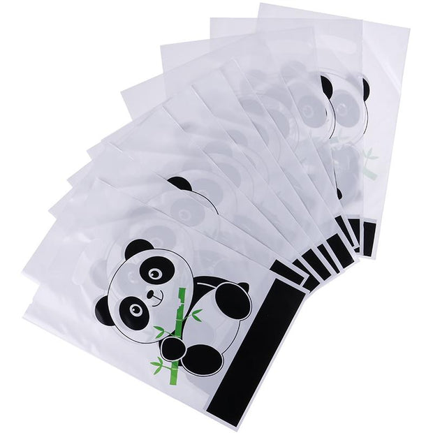 10pcs/lot Cute Panda Cartoon Biscuit Bag Plastic Candy Cookie Food Cake Bags Box Gift Packaging Bag Wedding Party Decor Supply