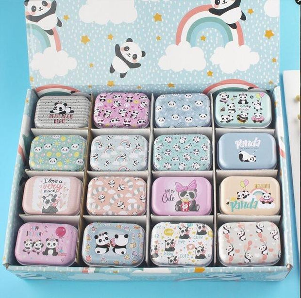 1Pc New Cartoon Mermaid Alpaca Tin Box Holiday Pattern Small Jewelry Needle Storage Boxes House Decoration Collectables Display
