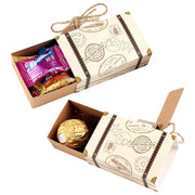 OurWarm 20pcs Suitcase Candy Boxes Travel Classic Theme Elegant Style Gift Box Wedding Birthday Anniversary Favor Boxes