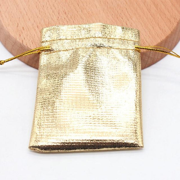 10pcs/pack Gold and silver red cloth bag drawstring bag Christmas Gift Packaging Gift Bags Wedding Candy Box Chocolate Bags