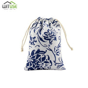 Small Cotton Bags 10x13cm 13x18cm Wedding Party Favor Drawstring Gift Bag Pouches Candy Nuts Jewelry Packaging Bags DIY Craft