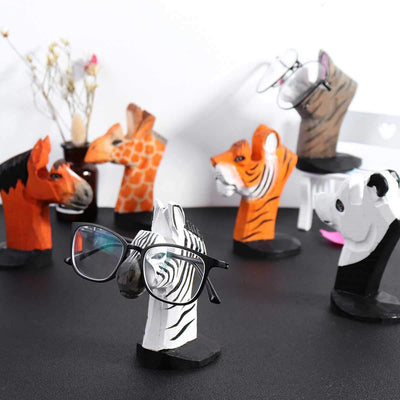 Novelty 3D Animal Wood Carving Sunglass Display Rack Shelf Eyeglasses Show Stand Jewelry Holder for Multi Pairs Glasses Showcase