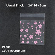 100/200pcs Frosted Candy Cookie Chocolate Bag Christmas Gift Bags Plastic Packaging Bags Self Adhesive Sample Soap
