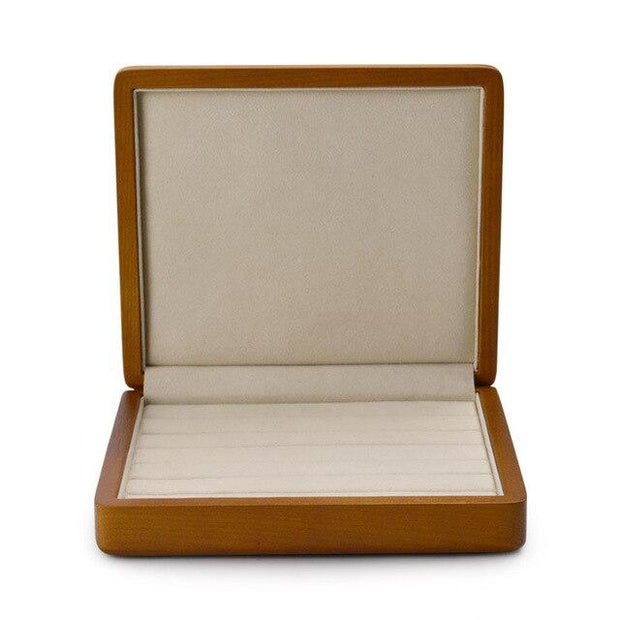 2Pcs Solid Wooden Jewelry Display Ring Display Holder with Microfiber Jewelry Box Stand for jewelry Shop