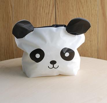 10pcs Cute Panda Cartoon Biscuit Bag Plastic Candy Cookie Food Cake Bags Box Gift Packaging Bag Wedding Party Decor Supply