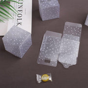 50pcs PVC Candy Packaging Box Square Transparent Cake Box Dot DIY Plastic Packaging Box Wedding Party Decorations