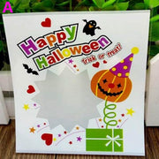 100pcs/pack Multistyle Halloween Cookie Candy Bread Packaging Bags Self-adhesive Plastic Bags Cookie Candy Packaging Pouch Box