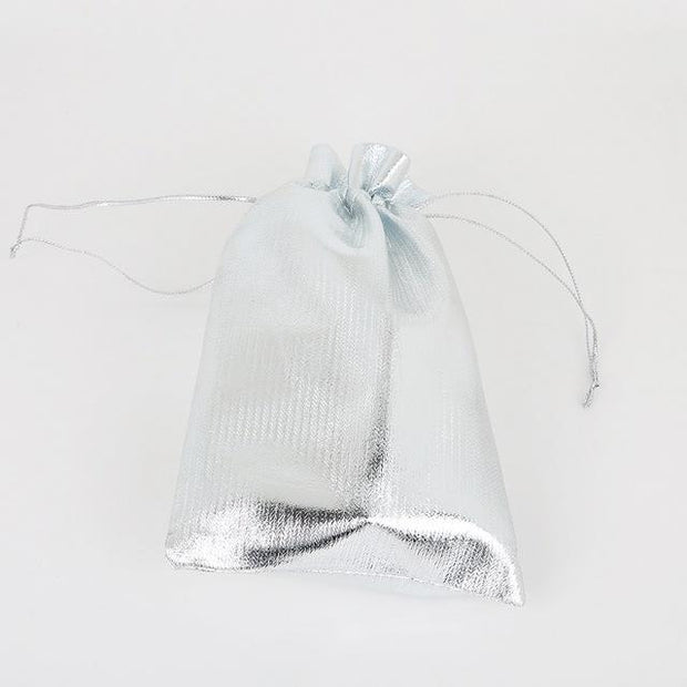 50pcs/lot Gold Sliver Foil Organza Bag Jewelry Packaging Bag Christmas Wedding Favor Pouches & Drawstring Gift Bag