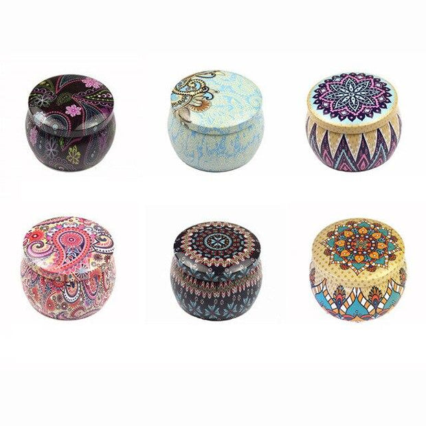 Round Drum Tinplaste Box Metal Tin Boxes Chocolate Cookie Baking Packaging Box Tea Candle Tin Jar Case Food Container Christmas