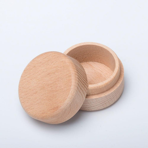 Hot Sale Portable Vintage Round Wooden Jewelry Storage Box Ring Earrings Container Storage Case