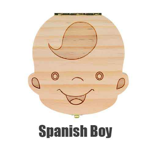 Gift Box  /Tooth Box for Baby /Spanish /English /Dutch/ Portugal Baby Wood Tooth Box Dropshipping