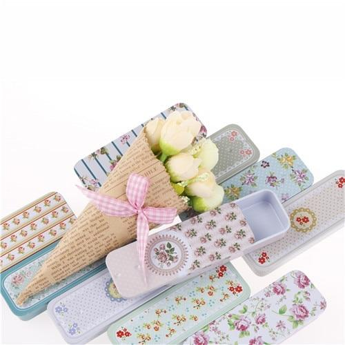 Portable Tin Boxs Container Slide Cover Mini Iron Box Storage Box Wedding Jewelry Pill Cases