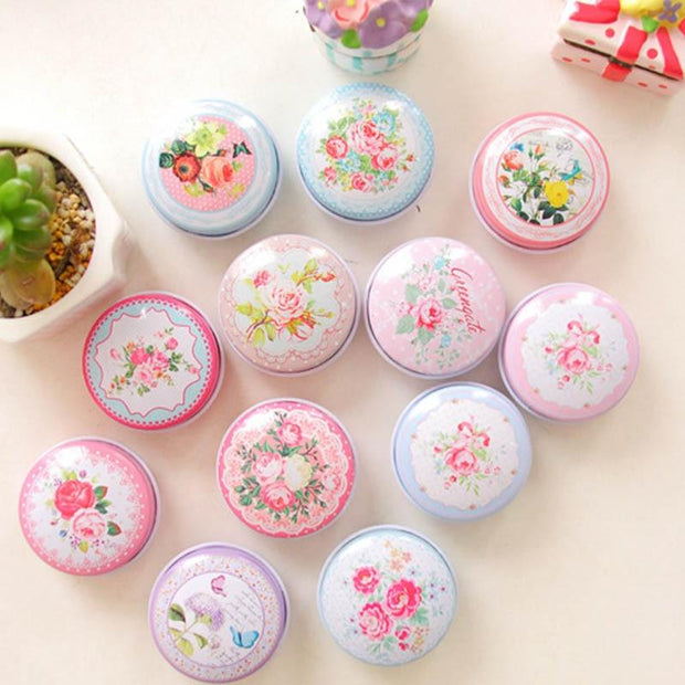 Small Tin Boxes Multi Styles  Portable Ointment Box Pill Boxes  Tinplate Lipstick Case Storage Small Handmade Series
