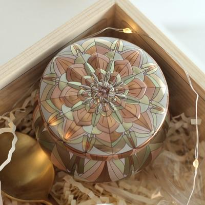 Gold-Plated European Tea Candy Jewelry Storage Box Candle Jar Christmas Small Iron Box Wedding Favor Tin Box House Decor Display