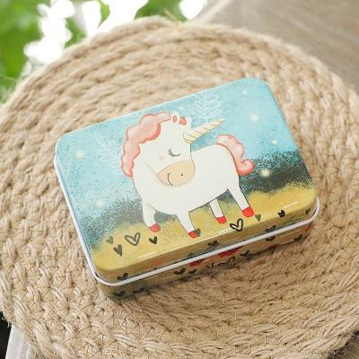Fantasy Mini Cute Cartoon Unicorn 9 x 6.5 x 2.8cm Candy Pill Lipstick Tin Storage Coin Box