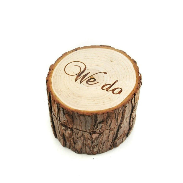 Rustic Wedding Ring Bearer Box Personalized Wedding Ring Box Wedding Decor Customized We Do Wedding Gifts Wooden Ring Holder Box
