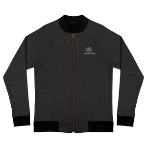 The Branded Bomber Jacket-Gray