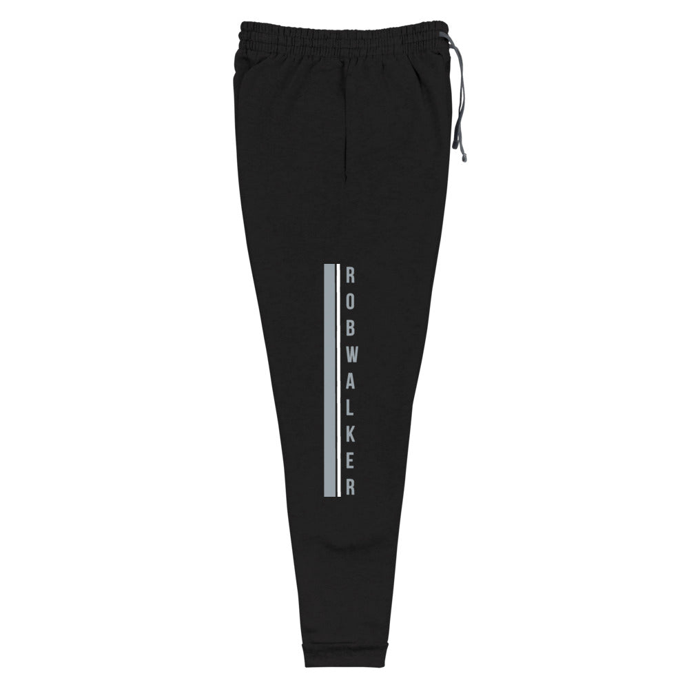 Branded Gray and white Logo Unisex Joggers