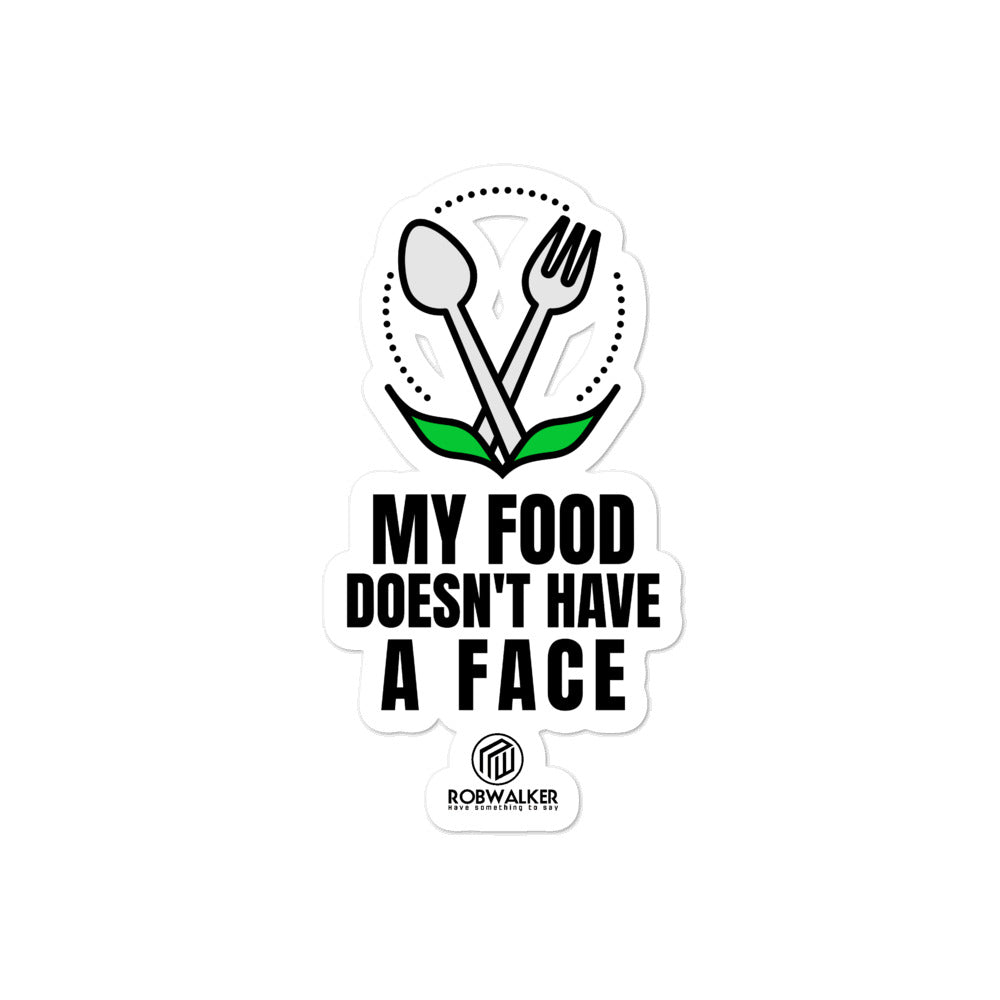 My Food Doesn't Have a Face Bubble-free stickers