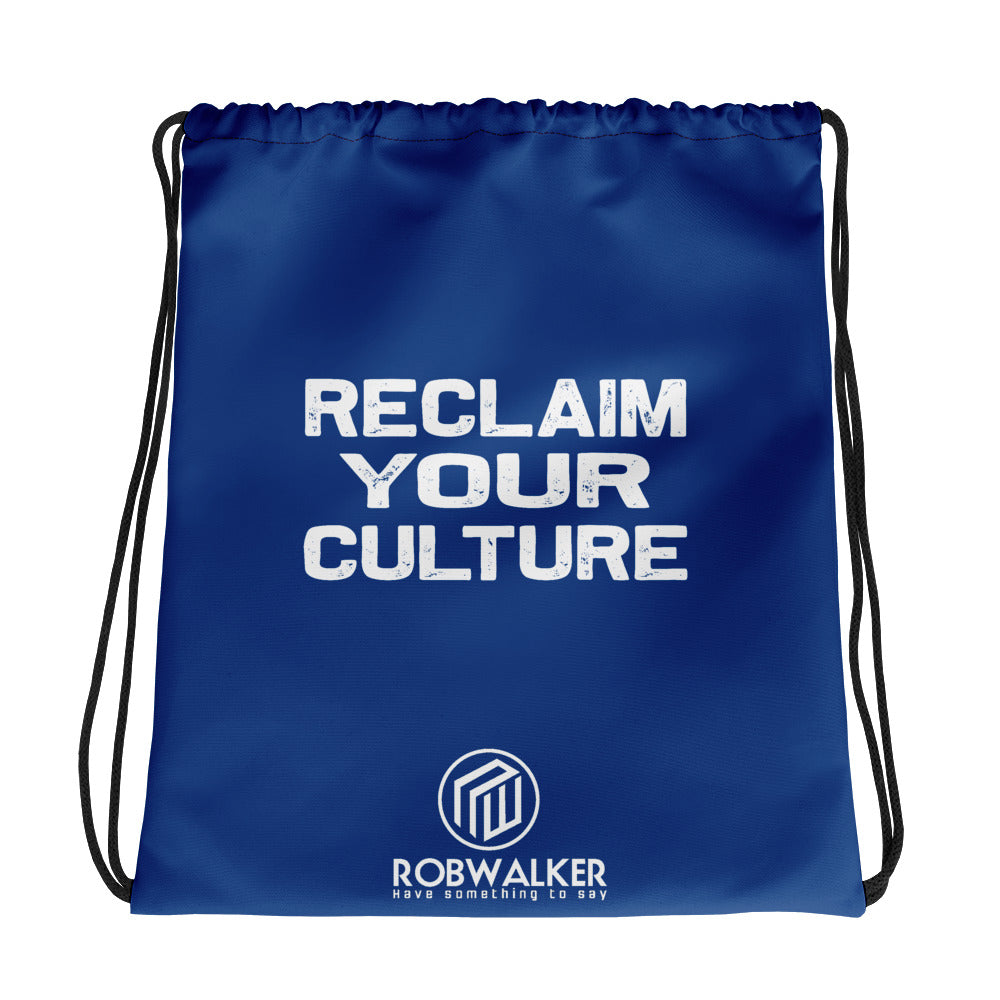 Reclaim Your Culture drawstring bag