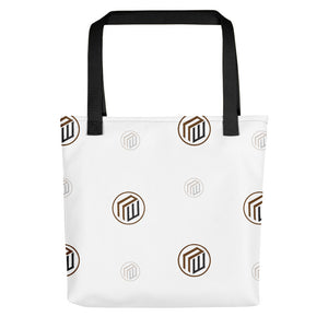 The Branded Tote-White