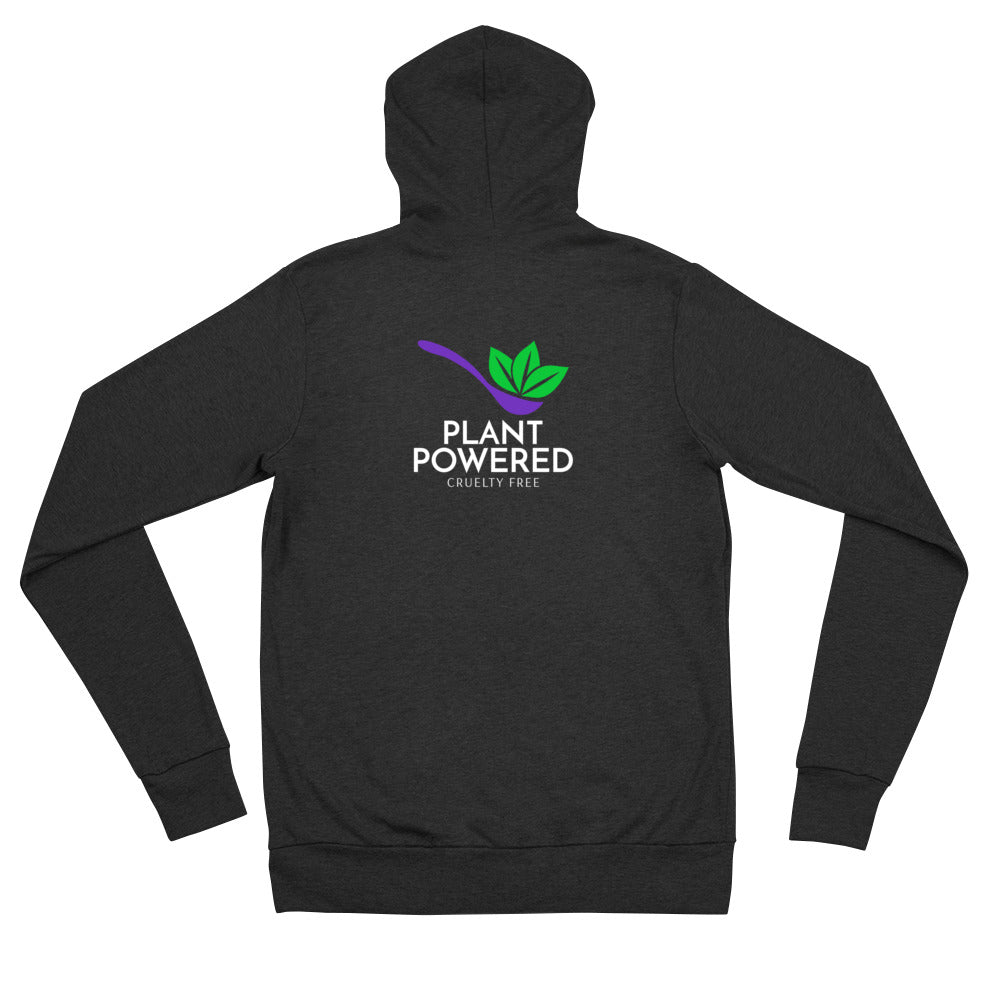 Plant Powered Unisex Zip Hoodie