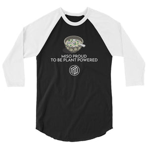 Miso Proud to be Plant based sleeve raglan shirt